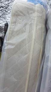 SINGLE SIZE pillow top mattress and boxspring, 150.00.VERY CLEAN