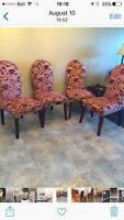 set of four dinning room chairs pier 1