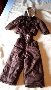 Toddler brown snow suit: size 18-24 months
