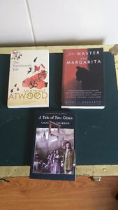 three fiction books for sale