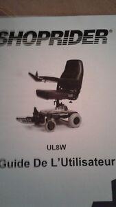 Quadriporteur Shoprider UL8W