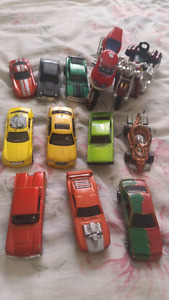 Toy cars and bikes