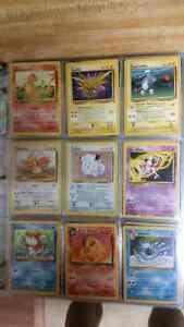 Binder full of old pokemon cards