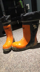 Stihl men's chainsaw boots