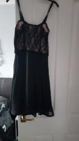Lace detail woman's dress