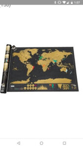 DELUXE SCRATCH MAP by Luckies Of London