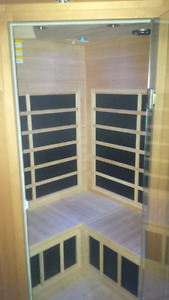 Saunatech 2009- infrared wooden sauna room
