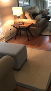 Jute sisal rug grey border brand new 4x6
