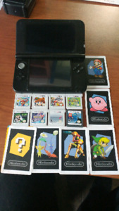 Nintendo 3DS XL w/ 8 games and case