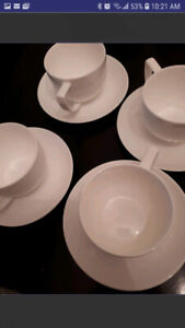 Set of 4 Fine Bone China Teacups
