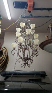 CHANDELIERS, WALL SCONCES