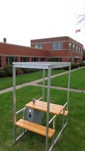solar picnic table with off-grid power and illumination Windsor Region Ontario image 2