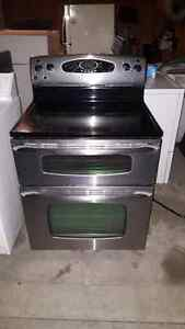 Maytag Gemini stainless steel double oven stove