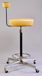 MCM HERMAN MILLER PERCH STOOL BY GEORGE NELSON