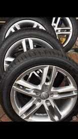 "New Genuine Audi 18"" alloy wheels & tyres"