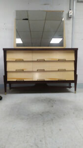 Mobilier chambre vintage mid-century