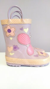 Purple Butterfly Rubber Boots, Joe Fresh, Toddler Girl, Size 7