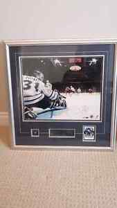 Signed Curtis Joseph framed print