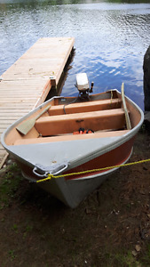Aluminum Boat with 6 hp. Johnson motor for sale