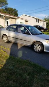 Selling 2004 Honda civic inspected until December 2020