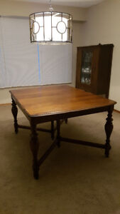 QUICK SALE  DINING SET: TABLE, DISPLAY CABINET, BUFFET,  $150