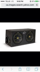 """2 10"""" kickers in ported box with alpine 500rms amp"""