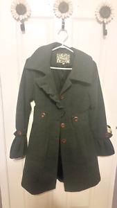 Dark grey small pea coat jacket