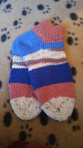 Hand knitted socks. Ladies & childrens.