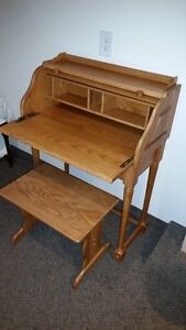 Roll Top Desk and bench
