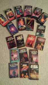 Star Trek VHS movies and 11 novels