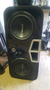 Kenwood 10in subs and ported box