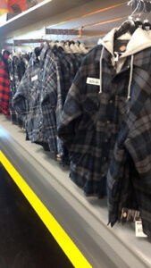 PLAID JACKETS - DICKIES - STORE WIDE CLEARANCE SALE !