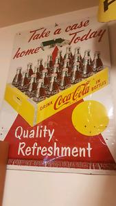 Rare Coca Cola 1947 sign