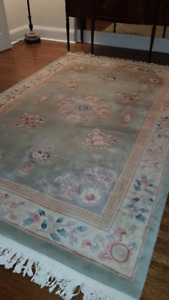 Pristine thick and luxurious 100% wool Chinese rug-REDUCED