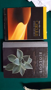 Text books for biology and calculus