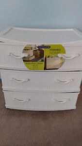 Gracious Living White Wicker (Plastic) Storage Container