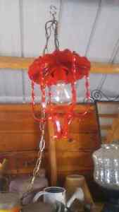 Upcycled vintage hanging light