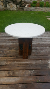 Quartz Outdoor Industrial Table