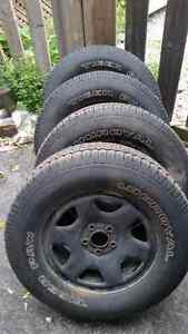 4 rims and tires 235/70/16 for escape or tribute