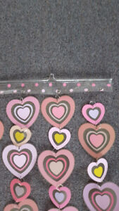 Hearts hanging décor
