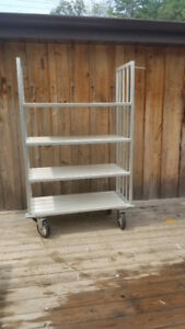 "Aluminum Cart 8"" wheels 22"" X46"" X6'"