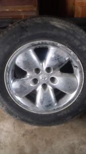 Dodge 20 inch  aluminum rims set of 4
