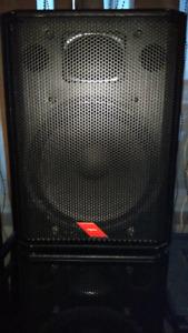 """2 Caisses Proel amplifiées 15"""" 600 watt"""