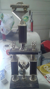 1986 car show trophy for pre 1948 truck (napanee show & shine)