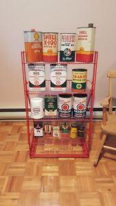 plusieurs cannes d'huile disponibles