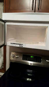 Kitchen aid over the stove microwave