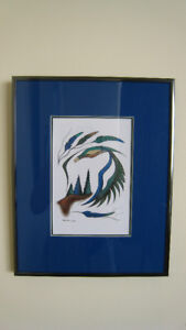 Signed Paintings - Ernie Scoles (First Nations artist)