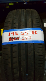 195 55 16 AVON ZV-7 TYRES £35 EACH X2£60 INC FIT N BAL OPEN 7 DAYS