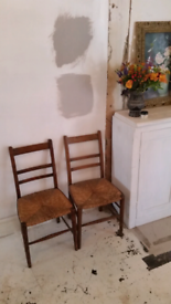 2 vintage antique chairs