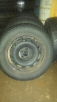 4 Jetta winter rims  with 195/65r15  and 1spare tire